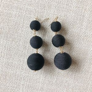 NEW Black drop earrings